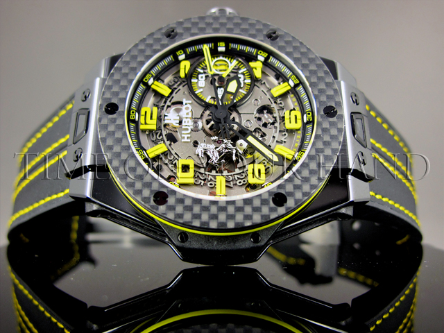 stainless second details girard yellow chronograph gold steel watch and product perregaux mens ferrari watches men hand s